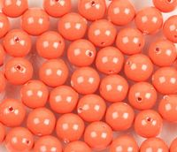 6mm SWAROVSKI® ELEMENTS Coral Crystal Pearl Beads - 50 pearls for jewellery making, beadwork and craft